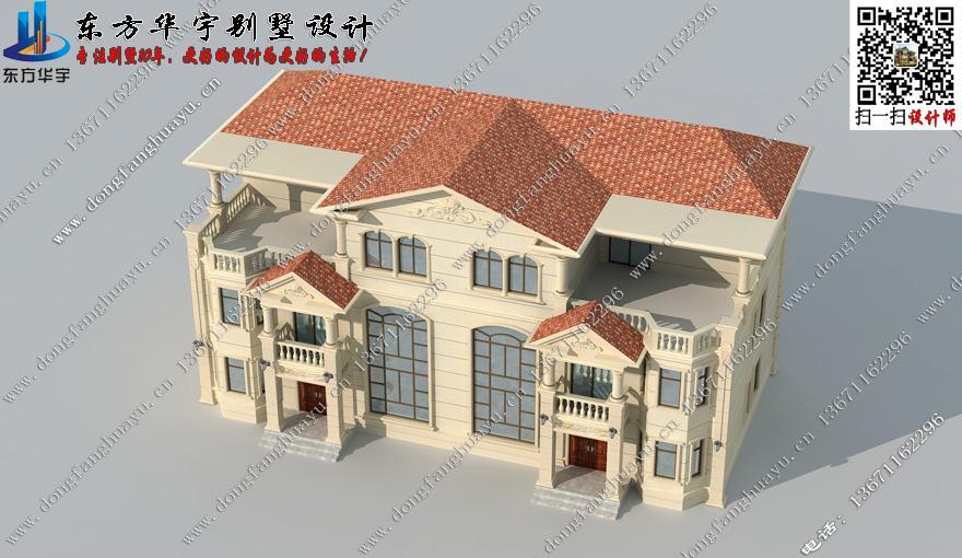 联排双拼别墅设计农村住宅户型兄弟房复式三层别墅房屋图纸效果图纸